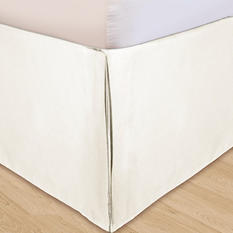 Solid Microfiber Adjustable Bed Skirt - Various Sizes & Colors