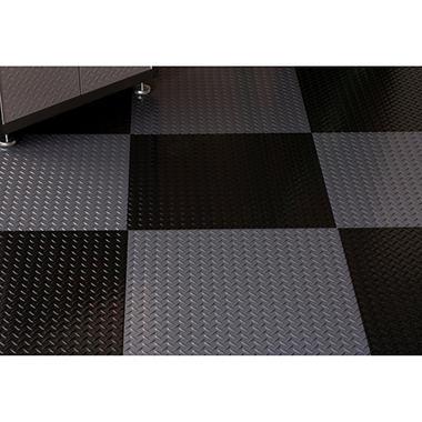 "G-FLOOR RaceDay Peel & Stick Diamond Tread Tile - 24"" x 24"" - 10 pk.- Available in Various Colors"