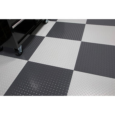 "G-FLOOR RaceDay Peel & Stick Diamond Tread Tile - 24"" x 24"" - 10 pk.- Available in Various Colors"