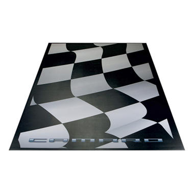 G-FLOOR Waving Flag Camaro Parking Pad - Commercial Grade Ceramic Finish - Available in 2 Sizes
