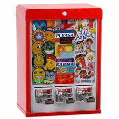 Stick-O-Rama Triple Vend Sticker Machine with Stand