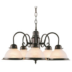 5-Light Rubbed Oil Bronze Chandelier