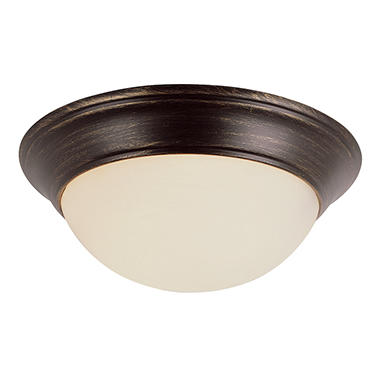 2-Light Bronze Ceiling Fixture