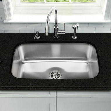 stahl stainless large single bowl kitchen sink sam