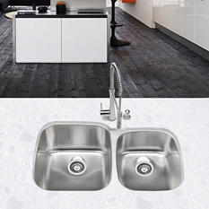 Stahl Stainless 60/40 Double Bowl Kitchen Sink