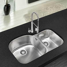 Stahl Stainless 70/30 Double Bowl Kitchen Sink (Limited Time Offer - DIY Event)