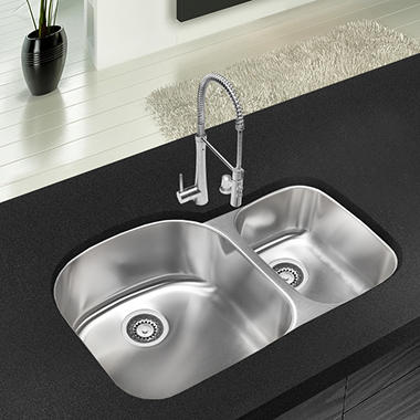 Stahl Stainless 70 30 Double Bowl Kitchen Sink