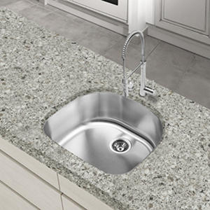 Stahl Stainless Half-Moon Bowl Kitchen Sink