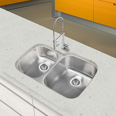 Stahl Stainless 40/60 Double Bowl Kitchen Sink