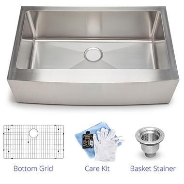 Stahl Handmade - Large Single Farmhouse Kitchen Sink