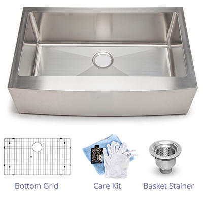 Stahl Handmade - Large Single Farmhouse Kitchen Sink