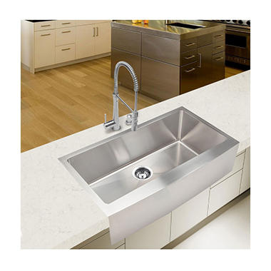 ... Handmade - Extra Large Single Farmhouse Kitchen Sink - Sams Club