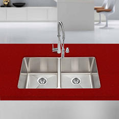 Stahl Handmade - Extra Large Equal Double Bowl Kitchen Sink (Limited Time Offer - DIY Event)