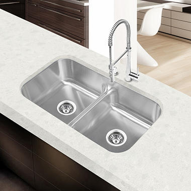 Stahl Stainless Equal Double Low-Divide Bowl