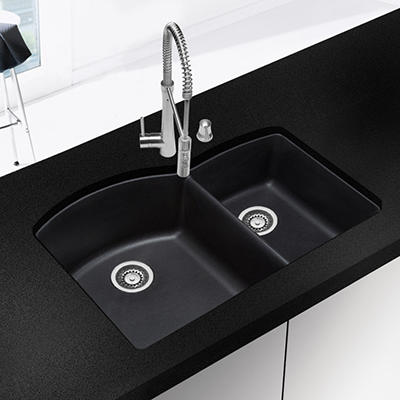 Blanco Silgranit Double-Bowl Kitchen Sink - Anthracite