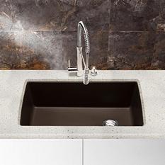 Blanco Diamond Super Single Bowl Kitchen Sink - Café Brown