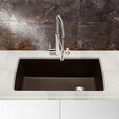 Blanco Diamond Super Single Bowl Kitchen Sink - Café Brown