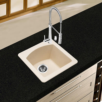 Blanco Diamond Equal Double Bowl Kitchen Sink - Biscotti