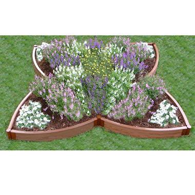 Four Leaf Clover Flower Bed