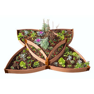 "Frame It All's Versailles Sunburst 1"" Raised Garden"