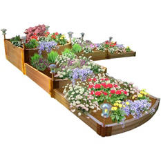 Frame It All's Raised Garden Split Waterfall Tri-Level, 1""