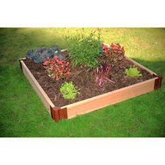 "Frame It All's Raised Garden Cedar 1"" 4' x 4', 1-Level"