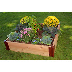 "Frame It All's Raised Garden Cedar 1"" 4' x 4"", 2-Level"