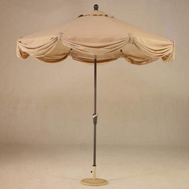 Market Scallop Umbrella w/ LED Light - 9' dia.