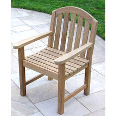 Teak Wood Glaser Arm Chair