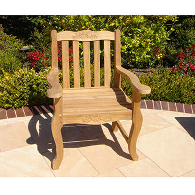 Teak Double Rose Arm Chair