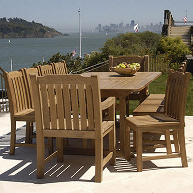 Teak Extended Patio Dining Set - 11 pc.