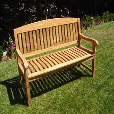 Teak Wood 5' Italian Bench
