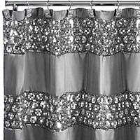 Sinatra Silver Sequins Design Shower Curtain