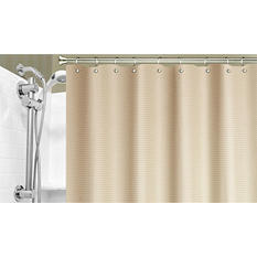 "Dobby Weave 70"" x 20"" Shower Curtain (Assorted Colors)"