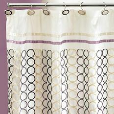 Rings Geometric Teardrop Design Shower Curtain