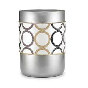 Rings Geometric Teardrop Design Waste Basket