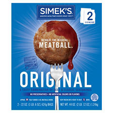 Simek's Original Beef Meatballs (22 oz. bag, 2 ct.)