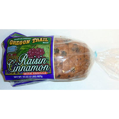 Oregon Trail Raisin Cinnamon Bread w/ Vanilla  - 32 oz.