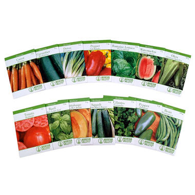 Mountain Valley Seed Heirloom Garden Seed 14 Variety Pack