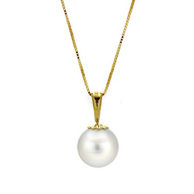 9-9.5mm Cultured Freshwater Round Pearl Pendant