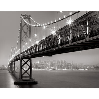 "36"" x 46"" Enhanced Canvas, Bay Bridge at Night"