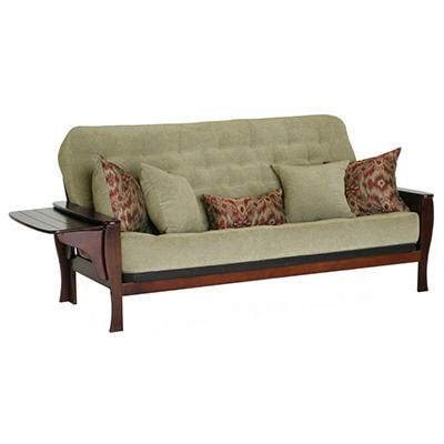 Ella Futon Sofa Sleeper with 5 Pillows