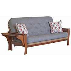 Ella Futon Sofa Sleeper with 2 Pillows