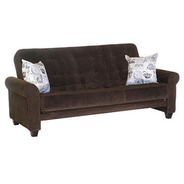 medina futon sleeper sofa with 2 pillows sam 39 s club. Black Bedroom Furniture Sets. Home Design Ideas