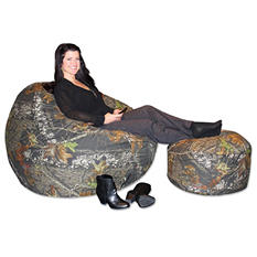 Mossy Oak Shredded Foam Chair and Ottoman