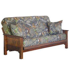 Mossy Oak Futon Sofa Sleeper with 2 Pillows