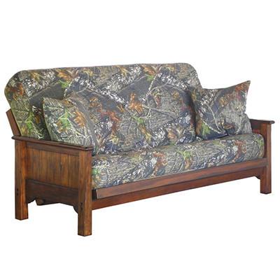 Mossy Oak Futon Sofa Sleeper with 2 Pillows