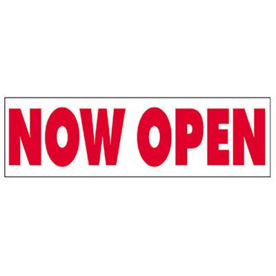 Now Open Vinyl Banner - 3' x 10'