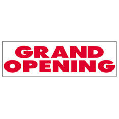 Grand Opening Vinyl Banner - 3' x 10'