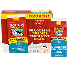 Horizon Organic Reduced Fat Milk (half gallon, 3 ct.)